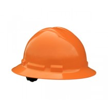 Quartz Full Brim Hard Hat, Orange, 6 point pinlock (#QHP6-ORANGE)