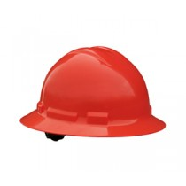 Quartz Full Brim Hard Hat, Red, 4 point ratchet (#QHR4-RED)