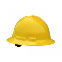 Quartz Full Brim Hard Hat, Yellow, 6 point pinlock (#QHP6-YELLOW)