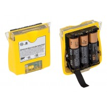Alkaline Battery Pack with Batteries, yellow (#QT-BAT-A01)