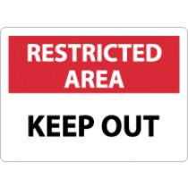 Restricted Area Keep Out Sign (#RA14)