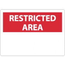 Restricted Area Sign (blank) (#RA1)