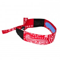 Arctic Cooling Headband, red paisley (#RCS107)