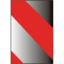 Reflective Tape, Red/Silver