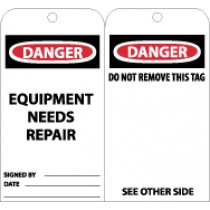 Danger Equipment Needs Repair Tag (#RPT106)