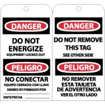 Danger Do Not Energize Bilingual Tag (#RPT110)