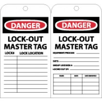 Danger Lock-Out Master Tag (#RPT111)