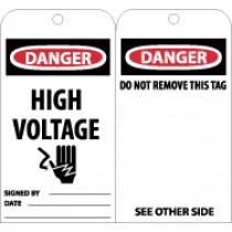 Danger High Voltage Tag (#RPT11)