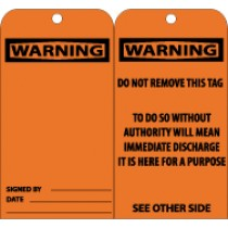 Warning (blank) Tag (#RPT123)