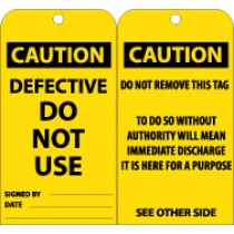 Caution Defective Do Not Use Tag (#RPT129)