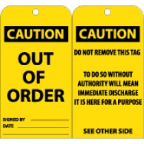 Caution Out Of Order Tag (#RPT145)