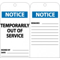 Notice Temporarily Out Of Service Tag (#RPT148)