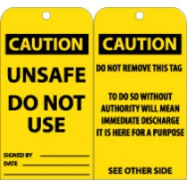 Caution Unsafe Do Not Use Tag (#RPT149)