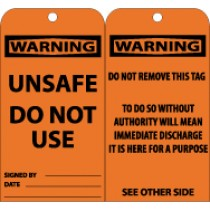 Warning Unsafe Do Not Use Tag (#RPT150)