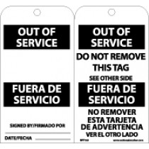 Out Of Service Bilingual Tag (#RPT153)