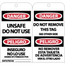 Danger Unsafe Do Not Use Bilingual Tag (#RPT154)