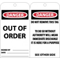 Danger Out Of Order Tag (#RPT25)