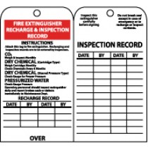 Fire Extinguisher Recharge & Inspection Record Tag (#RPT26)