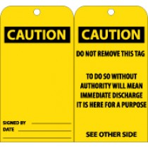 Caution (blank) Tag (#RPT28)