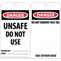 Danger Unsafe Do Not Use Tag (#RPT34)