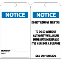 Notice (blank) Tag (#RPT38)