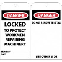 Danger Locked To Protect Workmen Repairing Machinery (#RPT79)