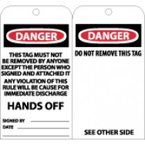 Danger This Tag Must Not Be Removed By Anyone Except… Tag (#RPT86)