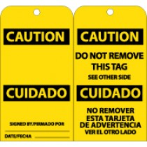 Caution Bilingual Tag (#RPT97)