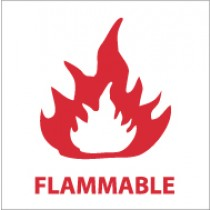Flammable Safety Label (#S12AP)
