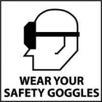 Wear Your Safety Goggles Safety Label (#S13AP)