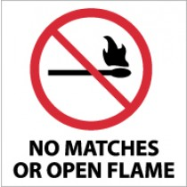 No Matches Or Open Flames Sign (#S15)