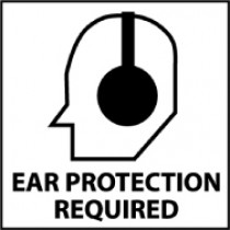 Ear Protection Required Safety Label (#S17AP)