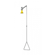 Barrier Free Drench Shower w/ Vertical Supply, Stainless Steel Fixture (#S19-130SSBF)