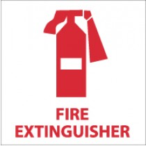 Fire Extinguisher Safety Label (#S21AP)