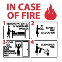 Hospital Fire Emergency Instructions (#S35)