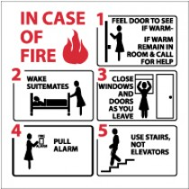Hospital Fire Emergency Instructions (#S37)