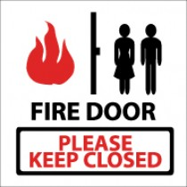 Fire Door Please Keep Closed Safety Label (#S39AP)