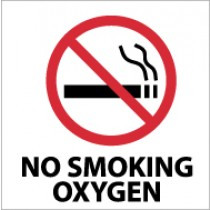 No Smoking Oxygen Sign (#S41)