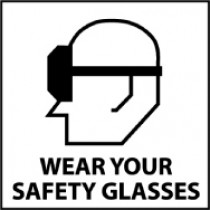 Wear Your Safety Glasses Safety Label (#S48AP)