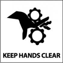 Keep Hands Clear Safety Label (#S49AP)