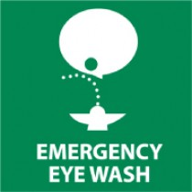 Emergency Eye Wash Safety Label (#S50AP)