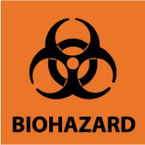 Biohazard Warning Label (#S52RL)