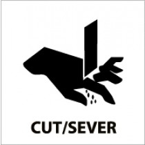 Cut/Sever Safety Label (#S65AP)