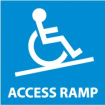 Handicapped Access Ramp Safety Label (#S72AP)