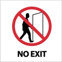 No Exit Safety Label (#S7AP)