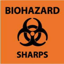 Biohazard Sharps Safety Label (#S90AP)