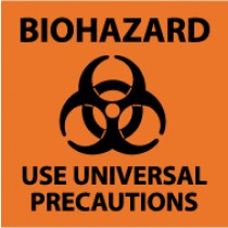 Biohazard Use Universal Precautions Sign (#S95)