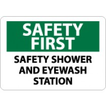 Safety First Safety Shower And Eyewash Station Sign (#SF175)