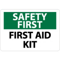 Safety First First Aid Kit Sign (#SF41)