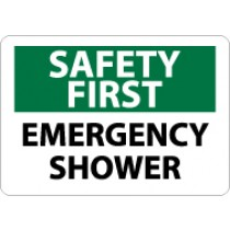 Safety First Emergency Shower Sign (#SF43)